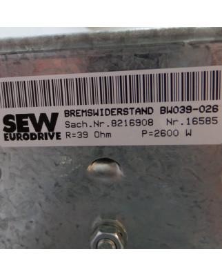 SEW Bremswiderstand BW039-026 8216908 GEB