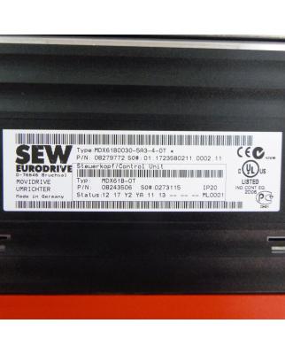 SEW EURODRIVE MOVIDRIVE MDX61B0030-5A3-4-0T #K2 GEB
