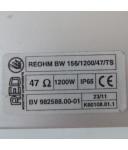 REO Bremswiderstand REOHM BW 156/1200/47/TS GEB
