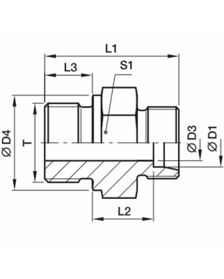 Parker Einschraubverschraubung GE12LR1/2CF (20Stk.) OVP