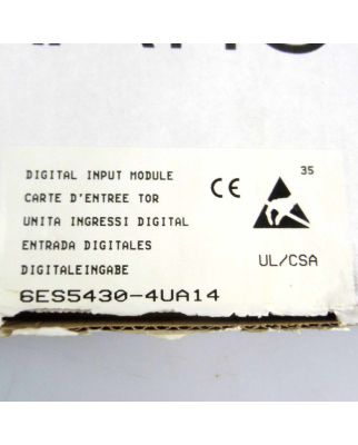 Simatic S5 DI430 6ES5 430-4UA14 OVP