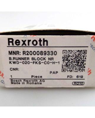 Bosch Rexroth Kugel-Führungswagen KWD-020-FKS-C0-H-1 R200089330 OVP