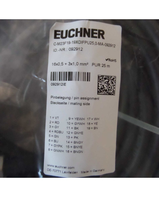 Euchner Anschlussleitung C-M23F19-19XDIFPU25,0-MA-092912...