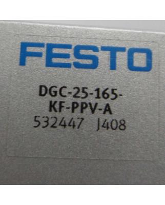 Festo Linearantrieb DGC-25-165-KF-PPV-A 532447 GEB