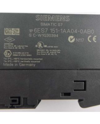 Simatic S7 ET200S IM151-1 6ES7 151-1AA04-0AB0 GEB