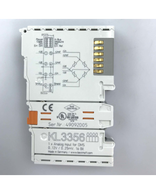 Beckhoff 1-Kanal-Analog-Eingangsklemme KL3356 OVP