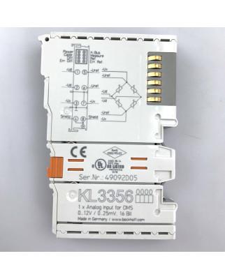 Beckhoff 1-Kanal-Analog-Eingangsklemme KL3356 GEB