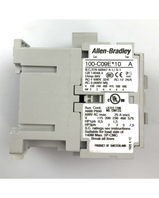 Allen Bradley Schütz 100-C09EJ10 Ser.A 24VDC GEB