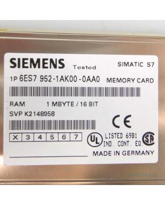 Simatic S7 MC952 6ES7 952-1AK00-0AA0 1MB GEB