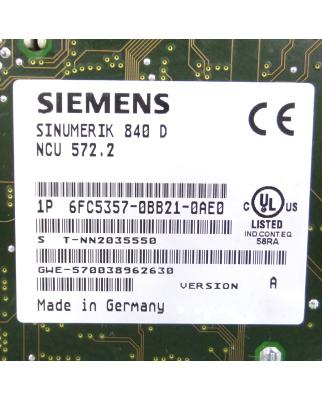 Sinumerik 840D NCU 572.2 6FC5357-0BB21-0AE0 Vers:A GEB