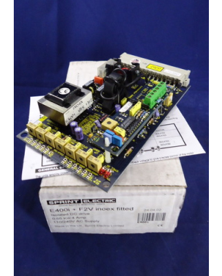 SPRINT ELECTRIC Steckkarte E400i + F2V inoex fitted OVP