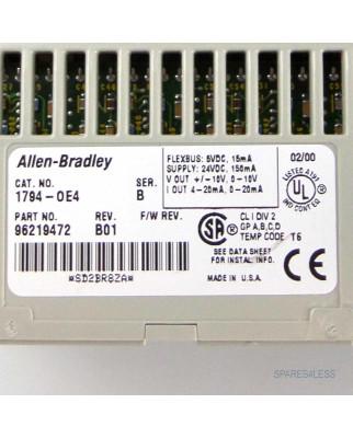 Allen Bradley Relay Analog Output 1794-0E4 GEB