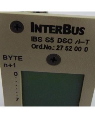 Phoenix Contact Interbus Anschaltbaugruppe IBS S5 DSC/I-T 2752000 GEB