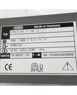 JUMO Temperaturwächter STBOt-54.1/30rt  600-1000°C OVP