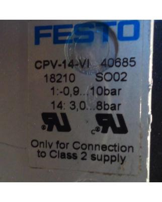 Festo Ventilinsel CPV-14-VI Nr. 40685 18210 SO02 GEB