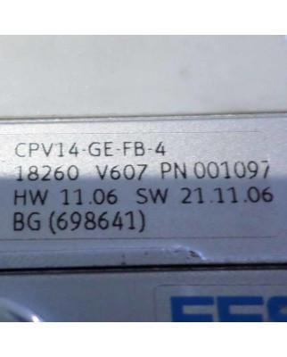 Festo Ventilinsel CPV-14-VI Teile-Nr. 40291 18210 GEB