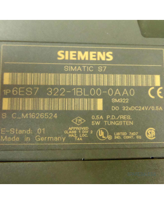 Simatic S7-300 SM322 6ES7 322-1BL00-0AA0 E-Stand:01 GEB