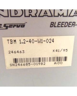 INDRAMAT AC Servo Bleeder TBM 1.2-40-W1-024 OVP