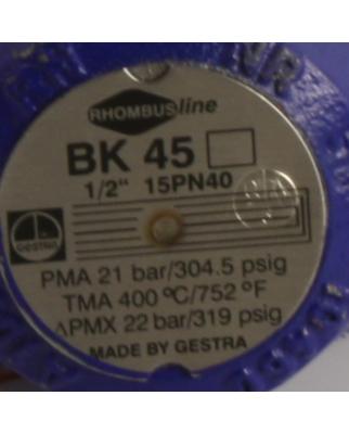 """Gestra Kondensableiter Rhombusline BK 45 1/2"""" 15PN40..."""