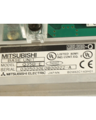 Mitsubishi Electric Base Unit Melsec-Q Q35B-E GEB