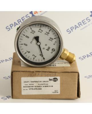 tecsis Manometer 100 RAD 0...16 BAR G1/2B 1778.076.002 OVP