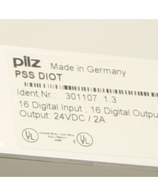 Pilz Digital I/O PSS DIOT 301107 1.3 OVP