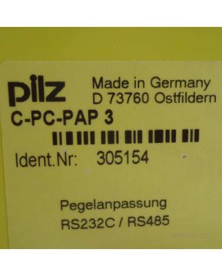 PILZ C-PC-PAP-3 PEGELANP.v24/RS485 305154 GEB