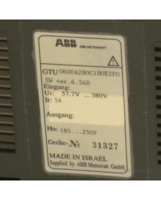 ABB Metrawatt Controller U0600 GTU0600A2B0C1D0E2F0 GEB
